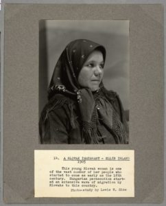 """A Slovak Immigrant, Ellis Island, 1905"" by Lewis W. Hine. Example from The Miriam and Ira D. Wallach Division of Art, Prints and Photographs: Photography Collection in The New York Public Library Digital Collections"